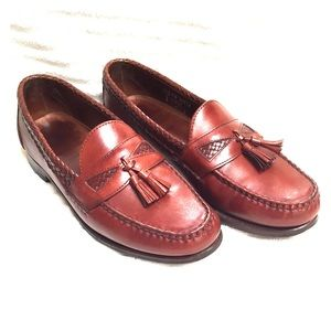 Allen Edmonds Maxfield Leather Loafers Chili Brown